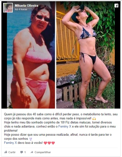 Feminy X antes e depois
