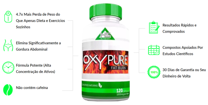 OxyPure Fat Burn beneficios