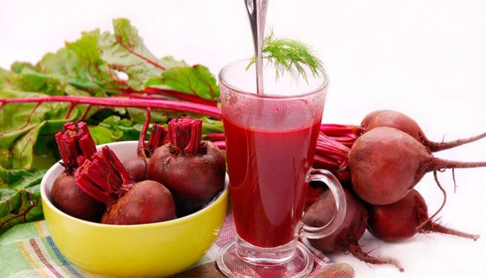 Suco de rabanete e agrião