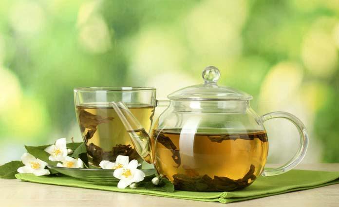 Chá verde tem cafeína