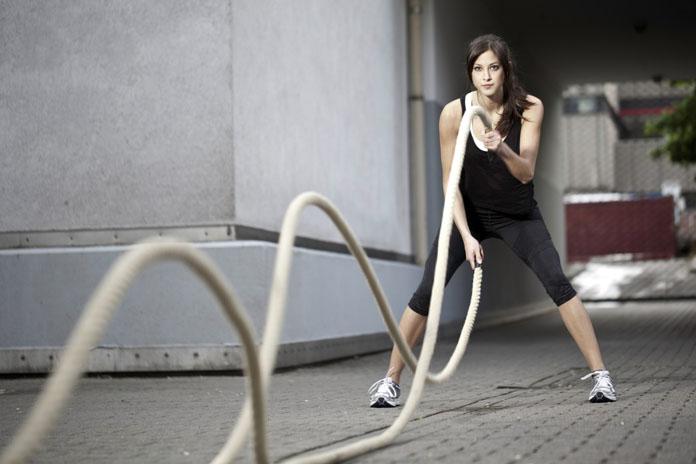 Treinamento funcional com corda