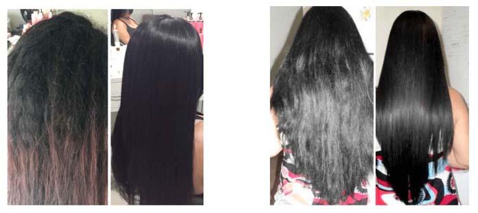 Cristal Monoi antes e depois