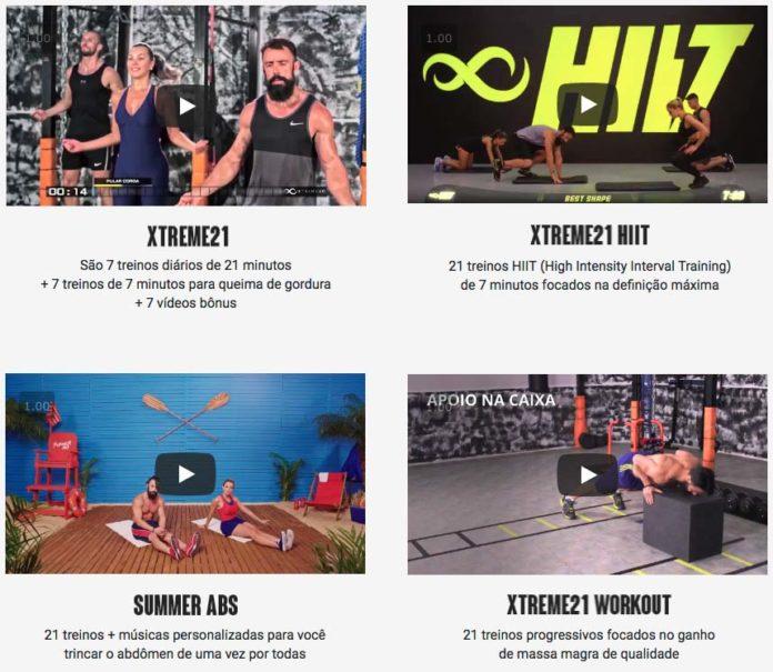 Programas de treinamento do Xtreme 21