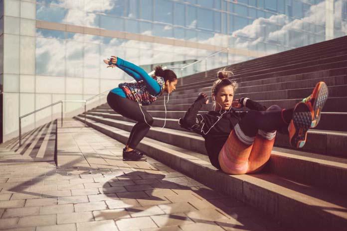 Exercícios para fazer na escada