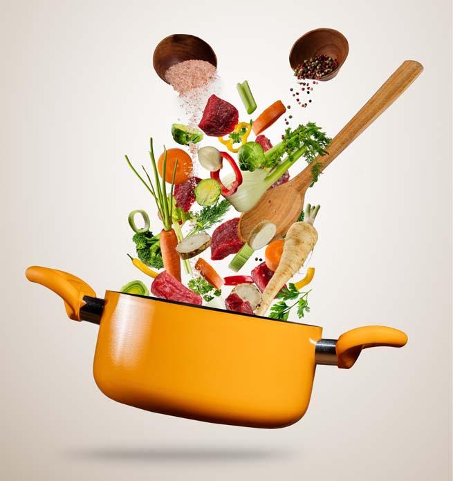 Alimentos do cardápio da dieta da sopa