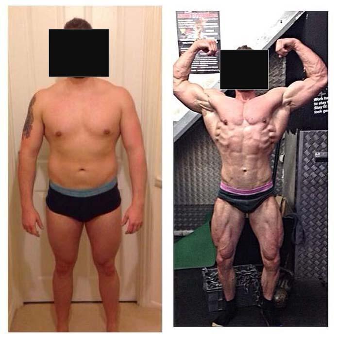 Antes e depois da Boldenona