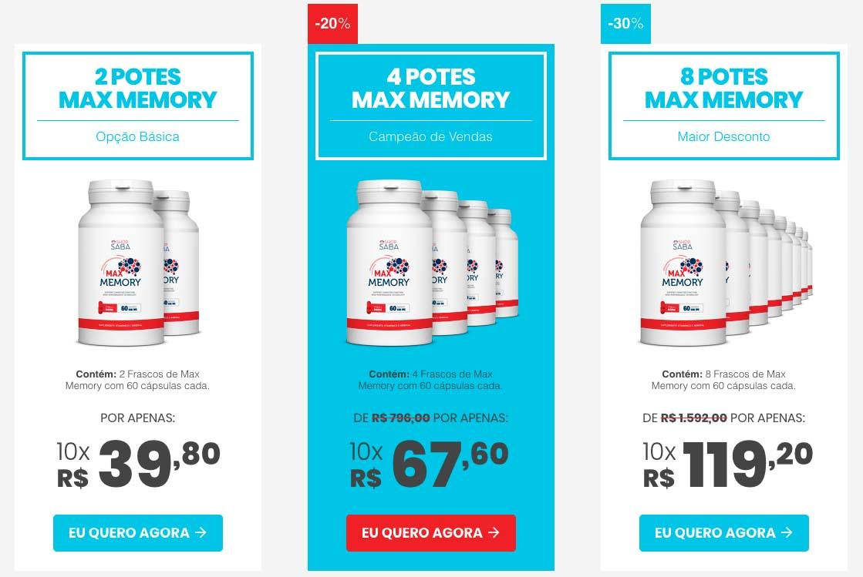 Max Memory Preço